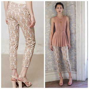 ANTHRO CARTONNIER Paisley Cigarette Leg Pants